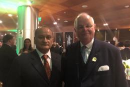 Dr. Marcelo Lizarraga Ferrand y  Michael Wirtz (Alemania) Presidente de la Fundación Grunenthal